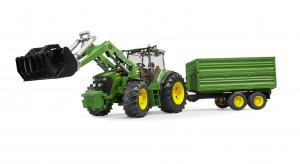 Tracteur John Deere 7930 - Avec fourche et remorque