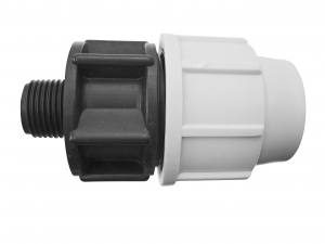 Raccord à compression mâle - Plasson - Ø 20 mm - 15 x 21