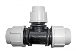 Raccord à compression Té réduit - Plasson - Ø 25 mm