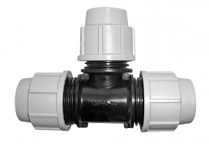 Raccord à compression Té égal - Plasson - Ø 4 cm