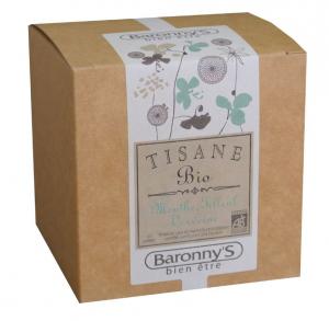 Tisane Menthe, Tilleul, Verveine BIO - Baronny's - 20 sachets
