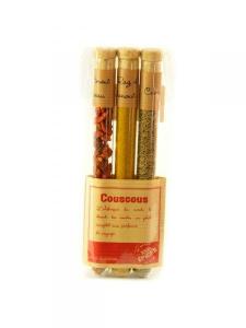 Etui 3 épices pour couscous - Le monde en tube - Raz El Hanout + cumin + piment oiseau