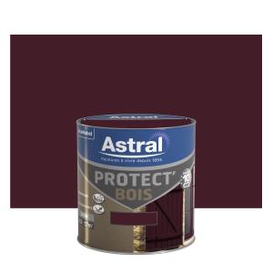 Peinture protect'Bois - Astral - Satin - Brun normandie - 0.5 L