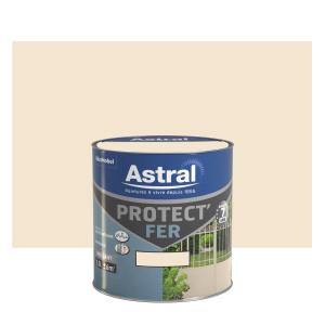 Peinture Protect'Fer - Astral - Brillant - Blanc cassé - 0.5 L
