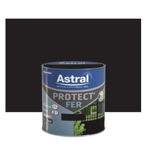 Peinture Protect'Fer - Astral - Brillant - Noir - 0.5 L