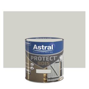 Peinture protect'Bois - Astral - Satin - Gris galet - 0.5 L