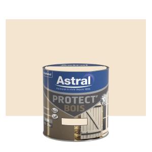 Peinture protect'Bois - Astral - Satin - Blanc cassé - 0.5 L