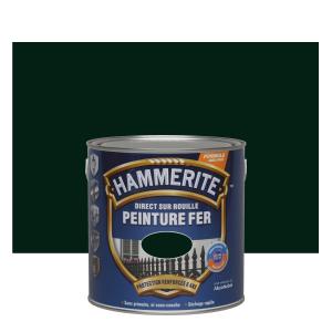 Peinture fer - Hammerite - Direct sur rouille - Vert épicéa - 2.5 L