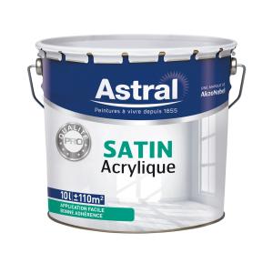 Peinture Pro - Astral - Bicouche - Satin  acrylique - 10 L