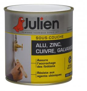 Peinture sous couche Alu, Zinc, Cuivre, Galvanisé - Peintures Julien - 0.5 L