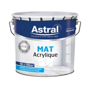 Peinture Pro - Astral - Bicouche - Mat - Acrylique - 10 L