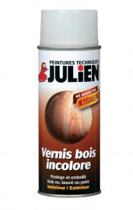 Aérosol Vernis Bois Incolore - Peintures Julien - Brillant - 0.4 L