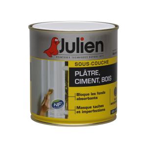 Peinture sous couche - Plâtre Ciment Bois - Peintures Julien - 0.5 L