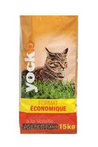 Croquettes Yock pour chat - Format économique - A la volaille - 15 kg