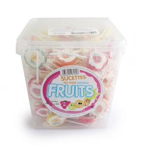 Confiseries sucettes au miel saveur fruits vrac - Famille Perronneau - x150