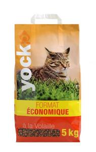 Croquettes Yock pour chat - Format économique - A la volaille - 5 kg