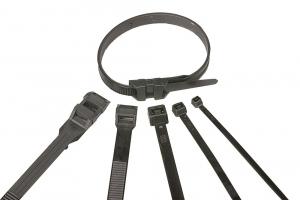 Colliers de serrage - 180 x 9 mm - Noir - x 25