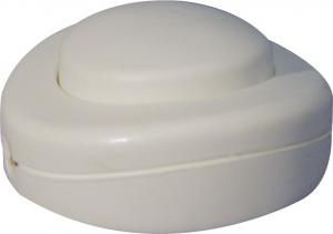 Interrupteur pour pied de lampe rond - 2 A - Blanc