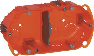 Boîte à encastrer Batibox multimatériaux - Le Grand - 2 postes - Profondeur 40 mm