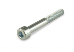 Vis métal - Tête cylindrique - 6 pans creux - En acier zingué classe 8.8 - M6 x 16 mm - 12 pièces