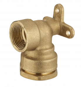 Coude applique - Noyon & Thiebault - Laiton - Pour tuyau PE - Ø 25 - F15-21