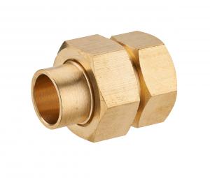 Raccord union droit femelle 3 pièces - Noyon & Thiebault - Joint sphéroconique -  F15x21 -  Ø 12