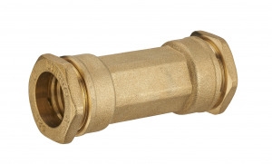 Manchon de réparation pour tuyau PE - Noyon & Thiebault - Laiton - Ø 25 mm