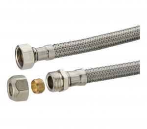 Flexible d'alimentation bicone en inox Noyon & Thiebault - Ø 12 - F12x17 - L 300 mm - 9 x12