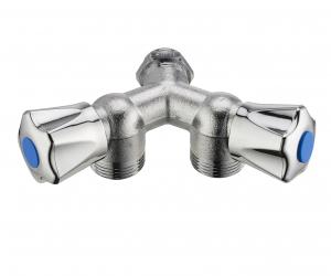 Robinet double Y pour machine à laver - Noyon & Thiebault - M15x21 M20x27