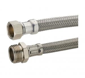 Flexible d'alimentation en inox Noyon & Thiebault - M15x21 - F12x17 - L 300 mm - 9 x 12