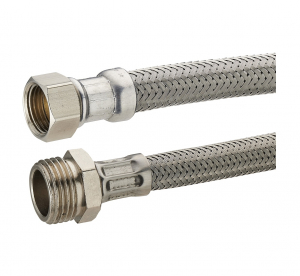 Flexible d'alimentation en inox Noyon & Thiebault - MF20x27 - L 300 mm - 13 x 18