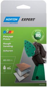 Patins pour ponceuse Grain 80 NORTON EXPERT - 102 x 152 mm
