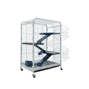 Cage Tower - 64 x 44 x 93 cm - Bleu/Blanc
