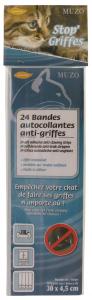24 bandes autocollantes anti-griffes - Stop'Griffes