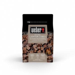Cubes allume feux bruns - Weber - Boîte de 48