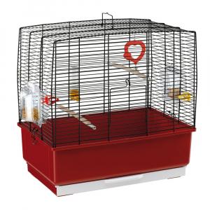 Cage Rekord 3 Noire pour canaris et oiseaux exotiques - Ferplast