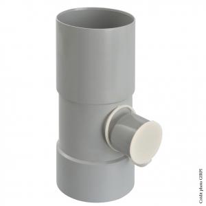Collecteur d'eau de pluie - GIRPI - Ø 100 mm - Sortie Ø 50 mm - Gris