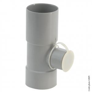 Collecteur d'eau de pluie - GIRPI - Ø 80 mm - Sortie Ø 50 mm - Gris