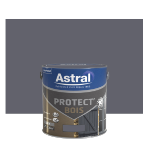 Peinture protect'Bois - Astral - Satin - Gris minerai - 2.5 L