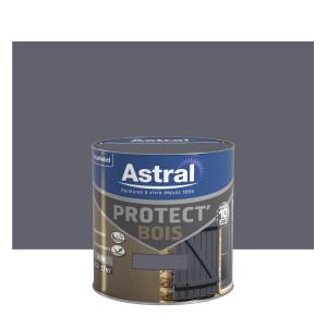 Peinture protect'Bois - Astral - Satin - Gris Minerai - 0.5 L