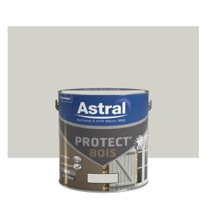 Peinture protect'Bois - Astral - Satin - Gris galet - 2.5 L