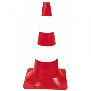 Cône de signalisation - Taliaplast - Rouge et blanc - H 50 cm