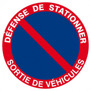 "Panneau Ps choc ""Défense de stationner"" - Taliaplast - Ø 180 mm"