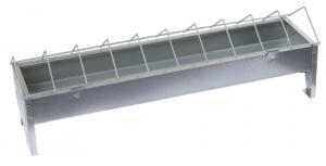 Mangeoire galvanisée pour volailles - 10 x50 cm