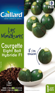 Courgette eight ball hybride F1 - Caillard