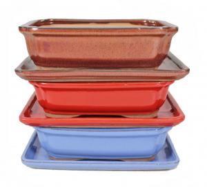 Pot rectangle basic - 25 cm - avec plateau