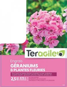 Engrais géraniums et plantes fleuries - Teragile - 2,5 L