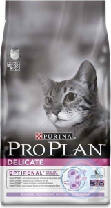 Croquette pour chats adults delicate Optirenal - Proplan - dinde - 10 kg