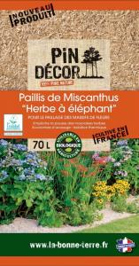 Paillis de Miscanthus BIOLANDES PIN DECOR - 70 L
