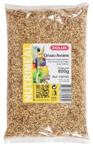Graines Gruau d'avoine Zolux 800 g - Aliliment complémentaire pour oiseaux de cages et de volières